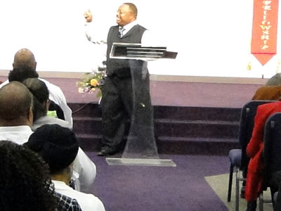 Bishop Johnson preaching